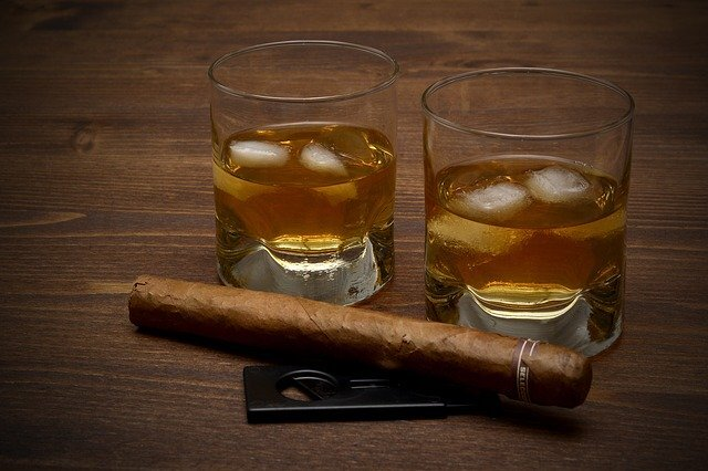Cigar and spirits