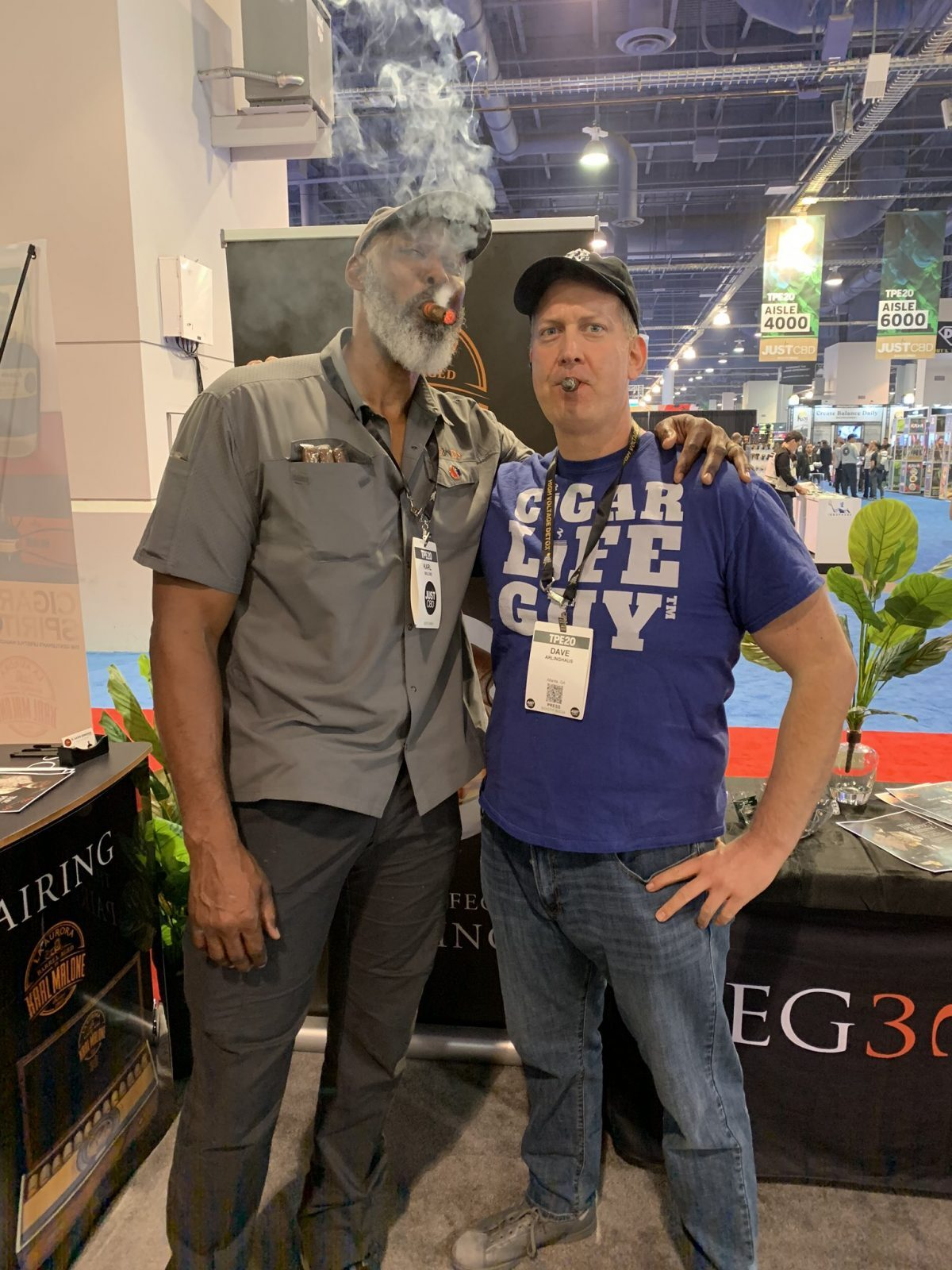 Karl Malone and Dave Arlinghaus at Tobacco Plus Expo 2020