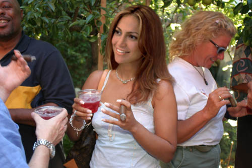 Jennifer Lopez enjoying a cigar