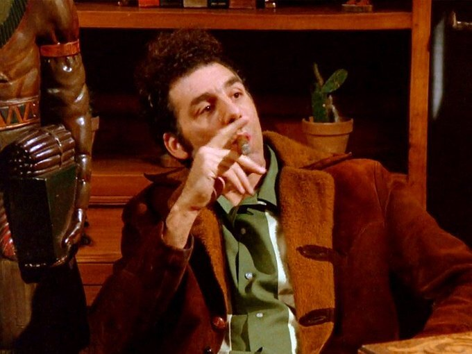 Kramer was always smoking fine cigars on the set of Seinfeld.