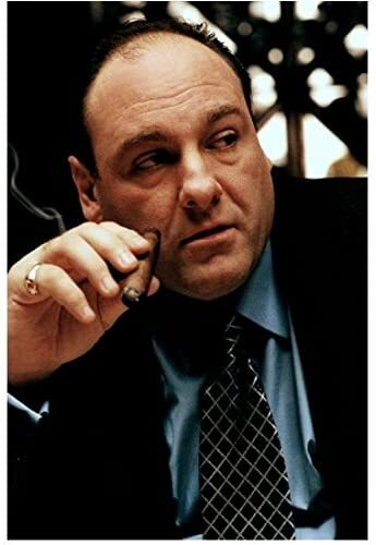 Tony, the Godfather on the Sopranos smokes cigars