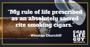 Winston Churchill on cigars as a sacred rite