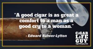 Best cigar quote by Edward Bulwer-Lytton