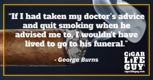 George Burns on cigars and doctor's advice