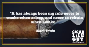 Famous cigar quotes: Mark Twain on rules of smoking