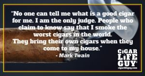 Mark Twain on good cigars