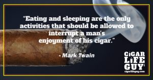 Mark Twain on cigar interruptions