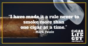Mark Twain on cigar rules