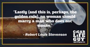 Robert Louis Stevenson's marriage advice to women