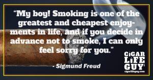 Sigmund Freud on cigars as one of life's greatest enjoyments