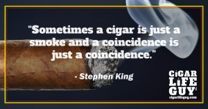 Stephen King on smoking cigars and coincidence