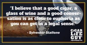 Sylvester Stallone on good wine vs. cigars