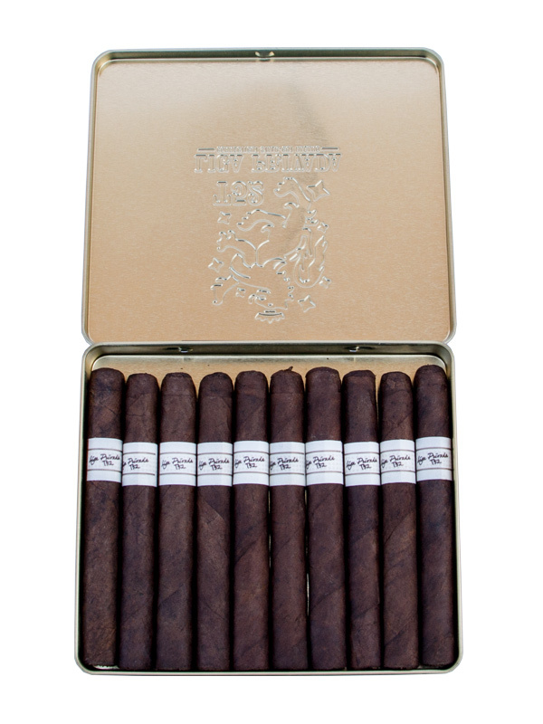 A box of premium cigarillos branded by Liga Privada Coronets