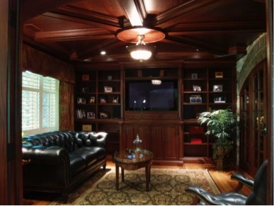 The basement cigar lounge is one creative way to create your smoking room at home