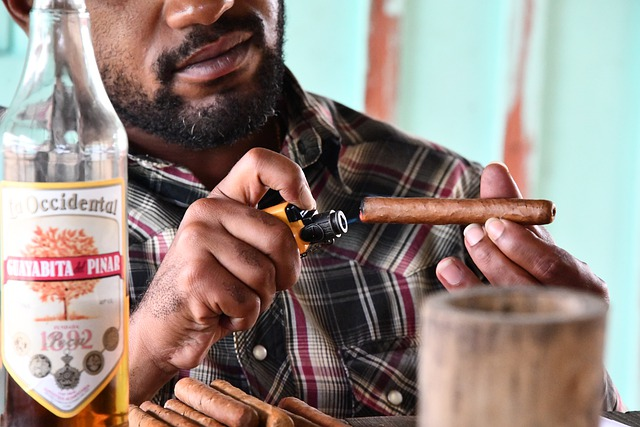 A man preparing to enjoy the cigar experience